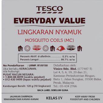 Harga TESCO EVERYDAY VALUE MOSQUITO COIL 10PCS
