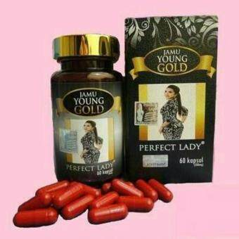 Harga Perfect Lady Jamu Young Gold 60 capsules