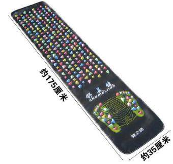 Harga 175*35Cm Colorful Plastic Foot Massage Pad Medialbranch Pad Chinese Health Care Walk Stone Square Healthy Foot Massage Mat Pad