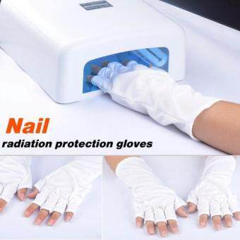 Harga UV Protection Nail Art UV Gel Anti UV Glove for UV Light Lamp Radiation Protection Manicure Nail Art Dryer Tools