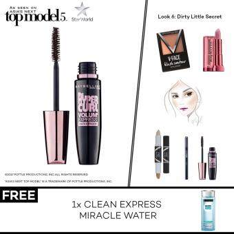 Harga [AsNTM] (FREE Clean Express Miracle Water) Maybelline Volum' Express The Hypercurl Mascara
