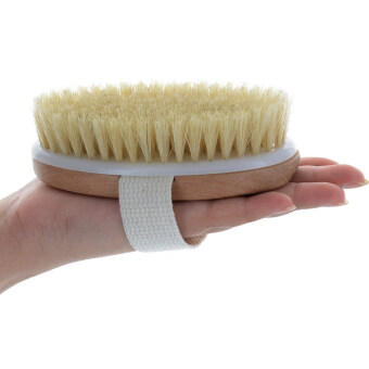 Harga Wooden Bath Shower Bristle Brush SPA Body Brush without Handle