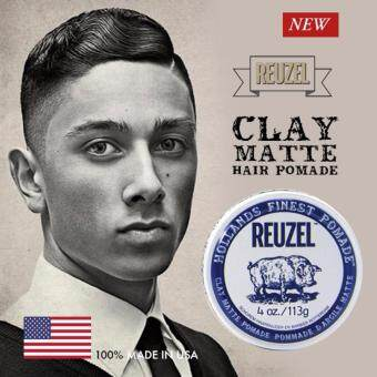Harga REUZEL Water Soluble Clay Matte Hollands Finest Hair Pomade Men - Original Made in USA (113g)