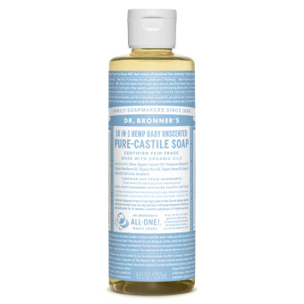 Harga Dr Bronner's Baby Unscented Pure-Castile Liquid Soap (237ml)