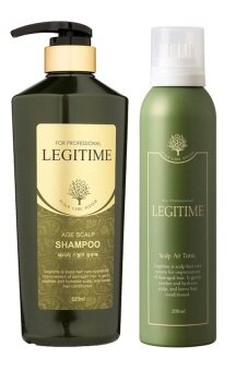 Harga LEGITIME AGE SCALP SHAMPOO 520ML + LEGITIME SCALP AIR TONIC 200ML (For West Malaysia Only)