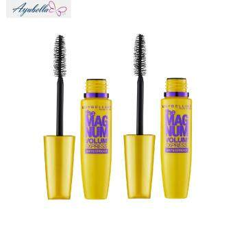 Harga Maybelline the Magnum Volume Express Waterproof Mascara (Black) x 2