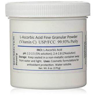 Harga L-Ascorbic Acid Powder (Vitamin C), 6 oz. Jar. For Use in Serums and Cosmetic Formulations