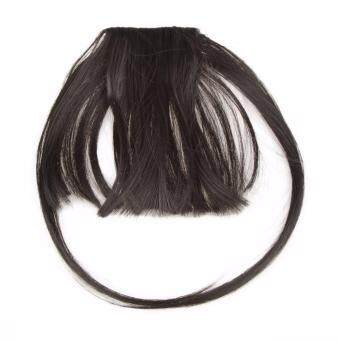Harga Fancyqube Synthetic Hair Bangs Front Neat Fringe Hair Extensions Natural Fake Bang With Fringe Clip On Bangs