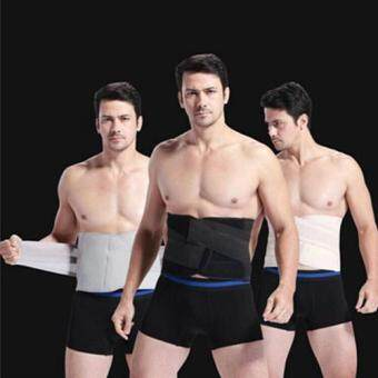 Harga Man Body Shaper Belt Waist Trimmer Support Belt Modern Corset Girdle Belts Shaper Men Girdle Slim Belt Supports(Black)-S