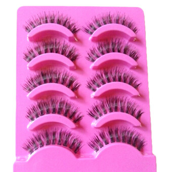 Harga Jetting Buy 5 pairs Natural clear band False eyelashes Thick eye lashes Daily eyelashes