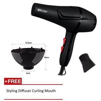 Harga OS Blue Light 2000W High Powerful Ionic Protect Hair Dryer + FREE Styling Curling Diffuser Tool