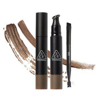 Harga [3CE] WATER PROOF CREAM BROW & BROW MASCARA #PEANUT BROWN