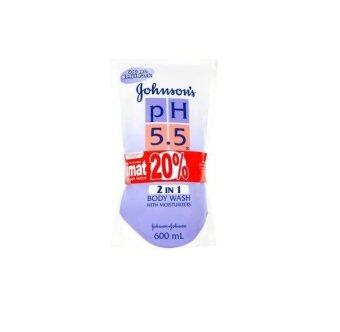 Harga Johnson's pH 5.5 2 in 1 Body Wash with Moisturizers Refill Pack 2 x 600ml