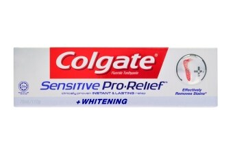 Harga Colgate Sensitive Pro Relief Whitening Toothpaste 110g
