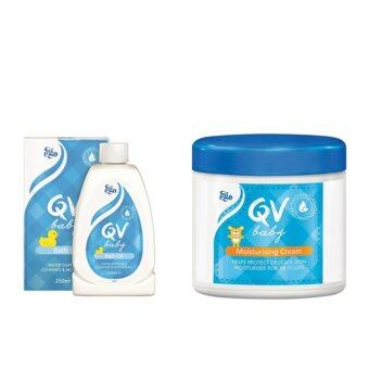 Harga QV BABY BATH OIL 250ML + QV BABY MOISTURISING CREAM 250G