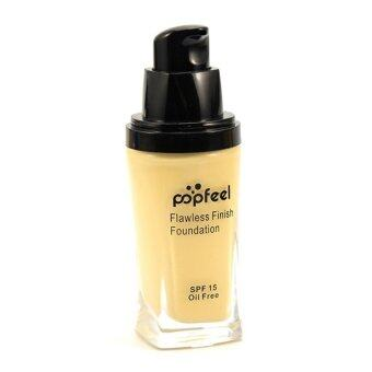 Harga POPFEEL MakeUp Perfection Foundation Full Coverage Flawless Matte Finish FF01