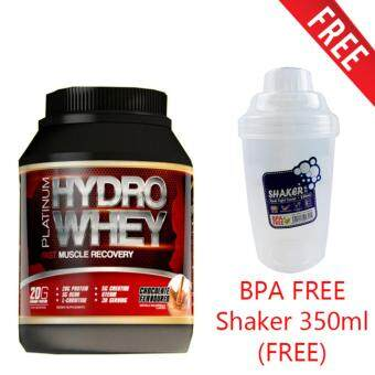 Harga Platinum Hydro Whey 1kg by Mesotropin (Chocolate) + Free Branded Shaker 350ml (BPA FREE)
