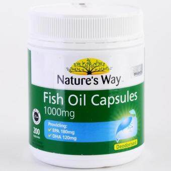 Harga NATURE'S WAY FISH OIL 1000MG CAPSULES (200T)