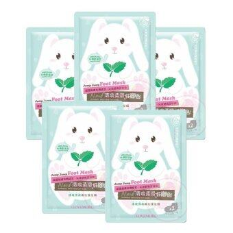 Harga Lovemore Peppermint Smoothing Foot Mask - 5 Pieces