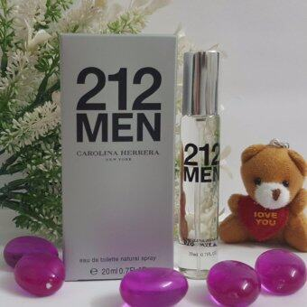 Harga [Hot Selling] Carolina Herrera 212 Men EDT 20ml for Men( Tester - Mini Purse Perfume)