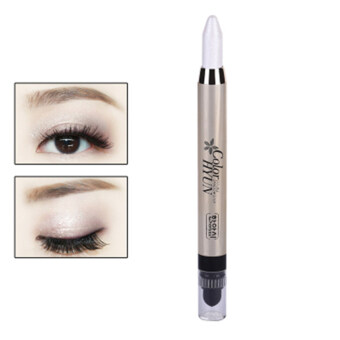 Harga Cream Eyeliner Eye shadow Pencil Lying Silkworm Big Smokey Eyes Shimmer Makeup Glitter Eye Liner Pen (Pearl white)