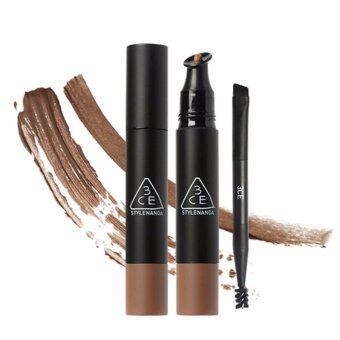 Harga [3CE] WATER PROOF CREAM BROW & BROW MASCARA #COPPER BROWN
