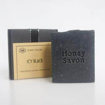 Harga ICY BLACK - Honey Savon - Handmade Natural Detoxifying Charcoal Milk Soap, Mint, Tea Tree