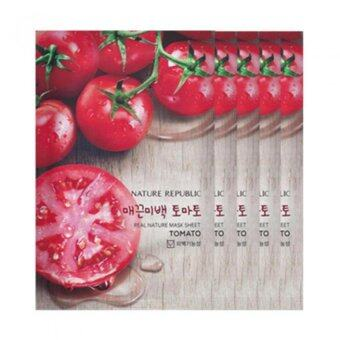 Harga Nature Republic Real Nature Mask Sheet Facial Mask - Tomato X 5