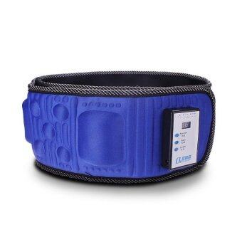 Harga Reduce Weight Thin Waist Belt X5 Times Vibration Massage Burning Fat Lose Weight Shake Shake Belt Slimming Belts(Blue)