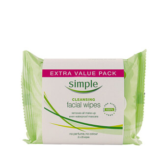Harga SIMPLE Simple Cleansing Facial Wipes 2PKX25'S