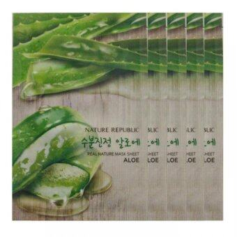 Harga Nature Republic Real Nature Mask Sheet Facial Mask - Aloe Vera X 5