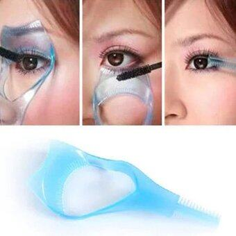 Harga Women Lady Practical Makeup Eye 3 in 1 Mascara Eyelash Applicator Eye Lashes Guide Card Comb Makeup Cosmetic Tools