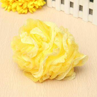Harga Flower Bath Ball Bath Tubs Cool Ball Bath Towel Scrubber Body Cleaning Mesh Shower Wash Sponge For Body For Bathroom Accessories Yellow