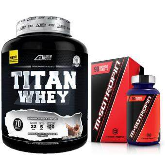 Harga Titan Whey Halal 2.1kg/4.63lbs,Whey Isolate With 22g Protein, 70 Servings - Fast Muscle Recovery (Chocolate Milkshake) + M-sotropin @ Msotropin Halal by Mesotropin, Unflavored, 90 Tablets, 30 Servings