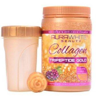 Harga AURAWHITE Beauty Gold Collagen with Tripeptide Gold