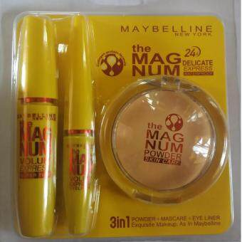 Harga MAYBELLINE THE MAGNUM 3 IN 1 ( POWDER+MASCARA+EYE LINER)