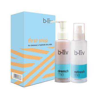Harga B.liv First Step Set - To Cleanse & Hydrate Dry Skin (Drench me 130ml + Refresh me 130ml)