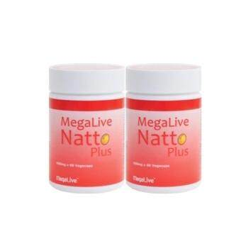 Harga Megalive Natto Plus 450mg, 2 bottles x 60 capsules (Suitable for vegetarians)