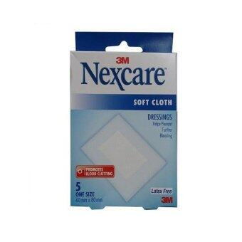 Harga 3M Nexcare Soft Cloth Latex-Free Dressings 60mm x 80mm 5 strips