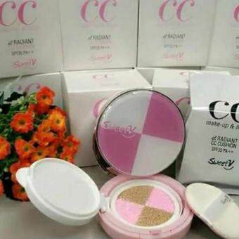 Harga Sweetv CC Make up & finish RADIANT CC Cushion SPF35 PA++