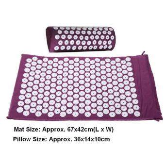 Harga Massager (appro.67*42cm)Massage cushion Acupressure Mat Relieve Stress Pain Acupuncture Spike Yoga Mat with Pillow