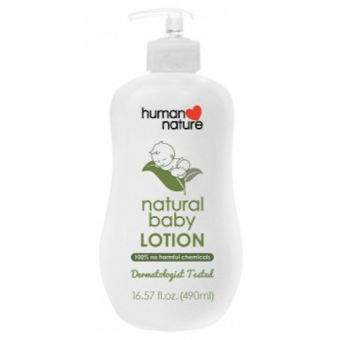 Harga Human Nature Natural Baby Lotion 490ml