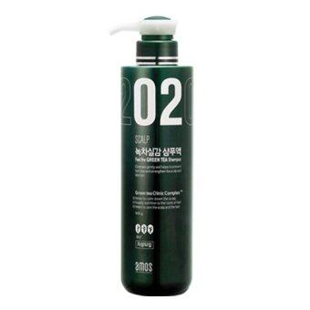 Harga [AMORE PACIFIC] Amos Scalp 02 / Feel the GREEN TEA Shampoo 500ml (Oily scalp only)