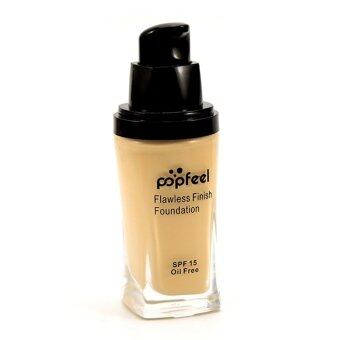 Harga POPFEEL MakeUp Perfection Foundation Full Coverage Flawless Matte Finish FF02