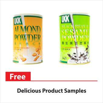Harga UKK Almond Powder 450G + UKK Black Bean and Sesame Powder 500G (TWIN SAVING PACK)