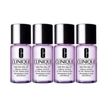 Harga Clinique Take the Day Off Make-up Remover For Lids Lashes & Lips (30ml) 4pcs