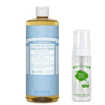 Harga Dr Bronner's Baby Unscented Pure-Castile Liquid Soap 950ml