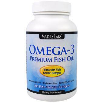 Harga Madre Labs, Omega-3 Premium Fish Oil - 100 Softgels