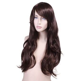 Harga Cocotina Japanese and Korean Style Women Lady Fashion Hgh Temperature Wig Lifelike Scroll Oblique Fringe Hair