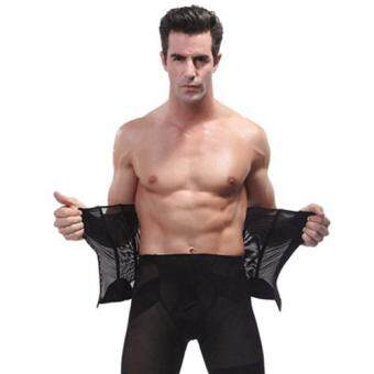 Harga Man Body Shaper Belt Waist Trimmer Support Belt Modern Corset Girdle Belts Shaper Men Girdle Slim Belt Supports-L
